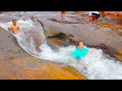 Spend the day sliding down a water chute at Slide Rock