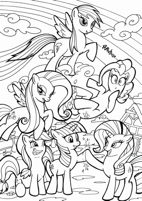 My Little Pony Friendship Is Magic Printable Coloring